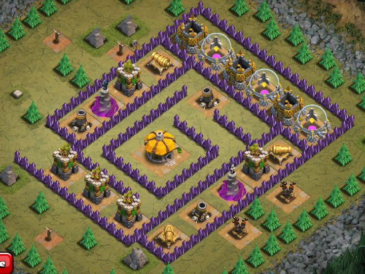 How To Beat The Clash Of Clans Kitchen Sink Base Clash Of Clans The Clash Single Player