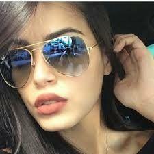 d6e34b3ca Ray ban azul degrade lente de cristal, feminino e masculino. Oculos De Sol  Aviador