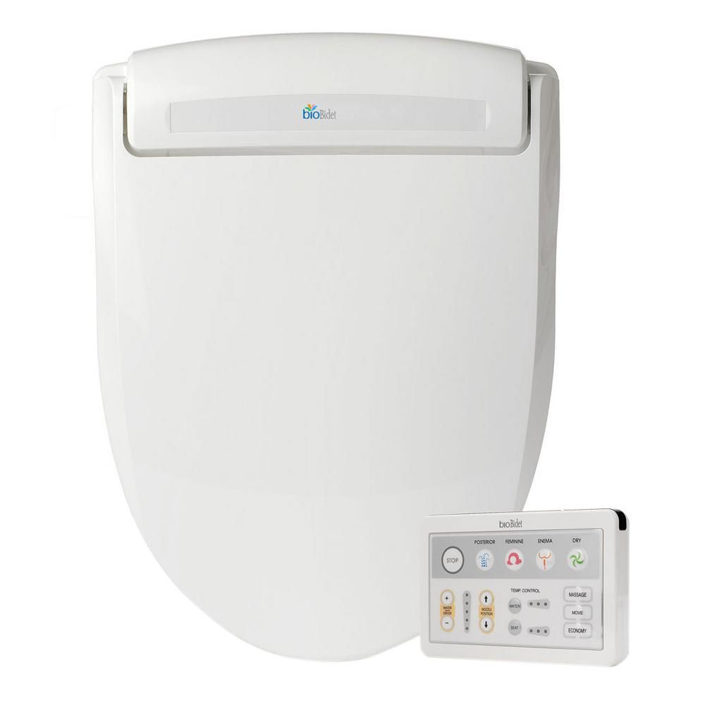 Excellent Supreme Electric Bidet Seat For Elongated Toilets In White Bralicious Painted Fabric Chair Ideas Braliciousco