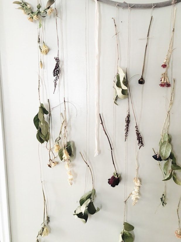 Diy Dried Flower Wall Hanging Hanging Flower Wall Macrame Plant