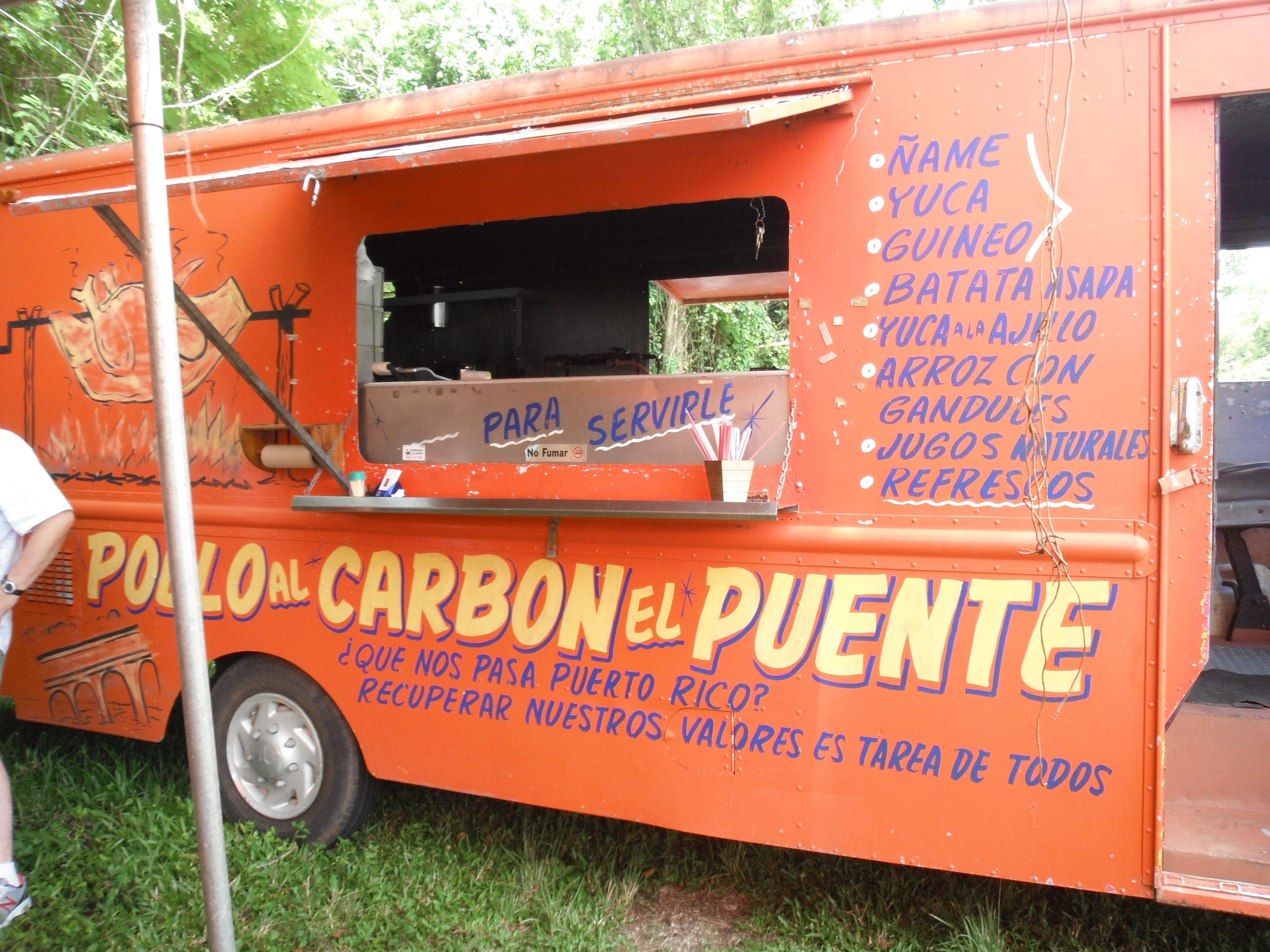 Roadside Food Truck Near Rio Camuy Cave Park In Puerto