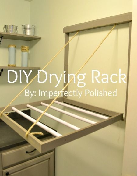 Diy Drying Rack Tutorial Diy House Projects Laundry Room