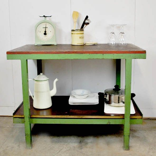 Keuken Bijzet Tafel.Bijzettafel Keuken Werkblad Industrieel Leuke Tafels