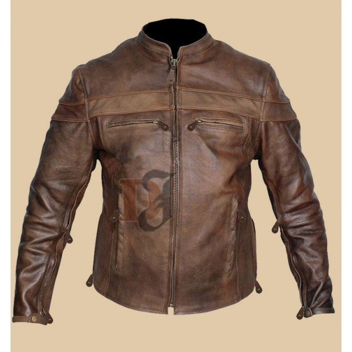 Pin On Distressed Leather Jacket