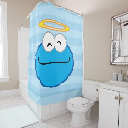Cookie Smiling Face With Halo Shower Curtain