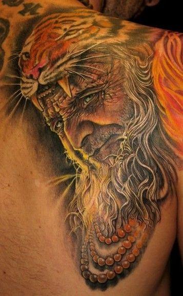 Tiger shaman tattoo