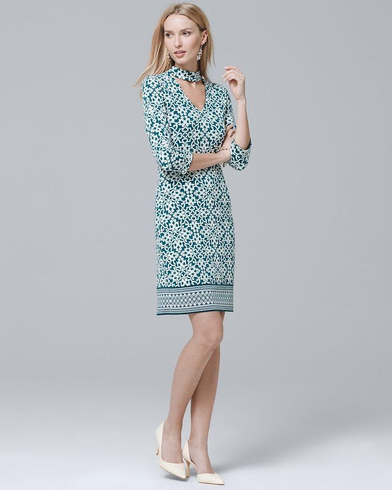 b9c2fac049 Women s Reversible 3 4-Sleeve Choker Knit Shift Dress by White House Black  Market