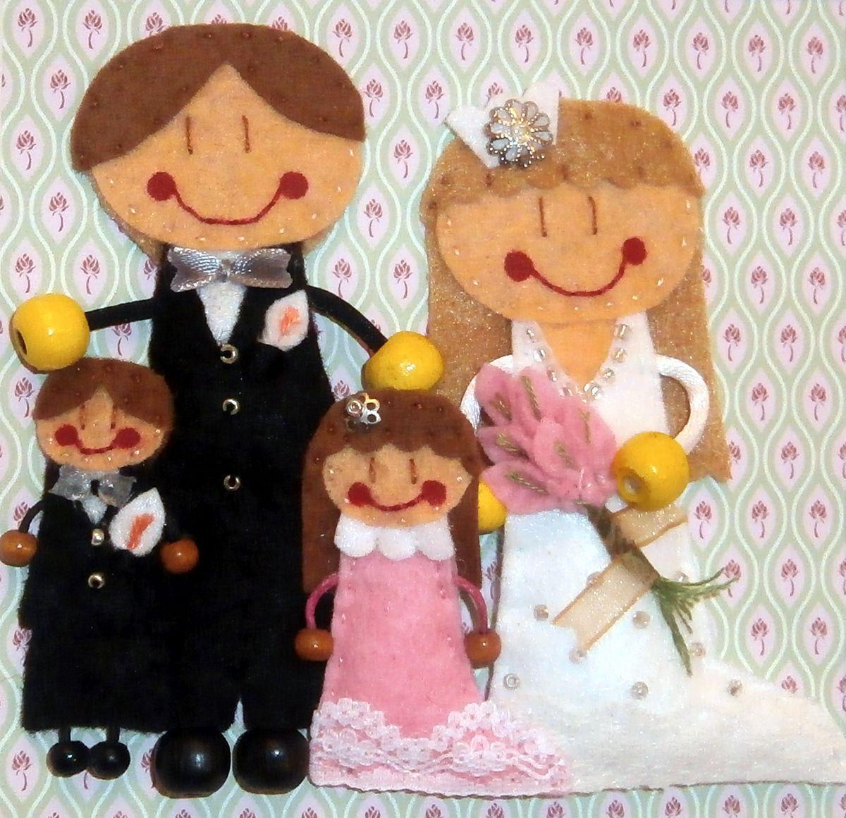Marco de Boda para la pareja y sus niños | Cuadros Personalizados ...