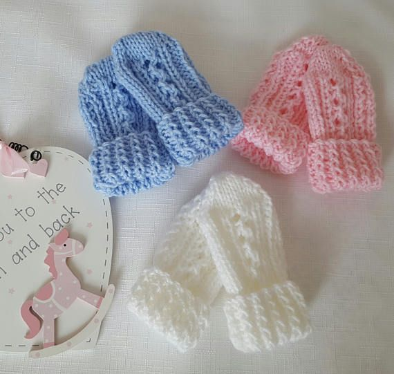 Baby Knitting Pattern Thumbless Mittens Baby Mitten Knitting