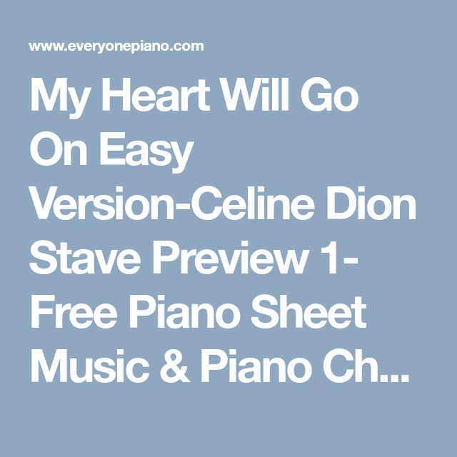My Heart Will Go On Easy Version-Celine Dion Stave Preview 1- Free ...
