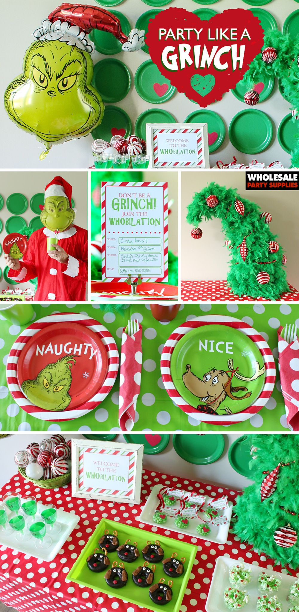 Grinch Party Ideas Dr Seuss Party Ideas Grinch Party Grinch