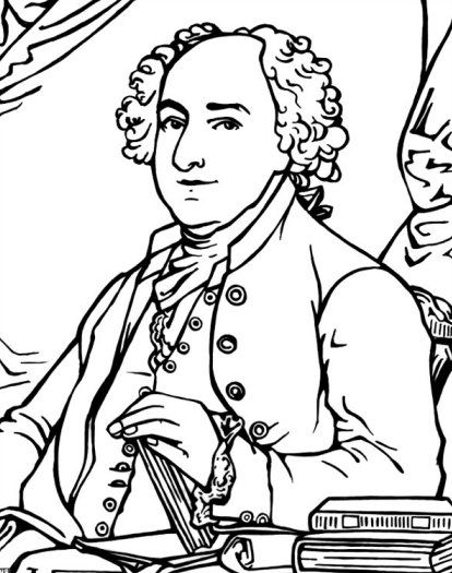 American Presidents John Adams Coloring Pages and Colouring Pictures ...