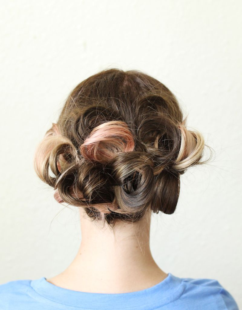 Style a simple pretty updo for a wedding or a date night beauty
