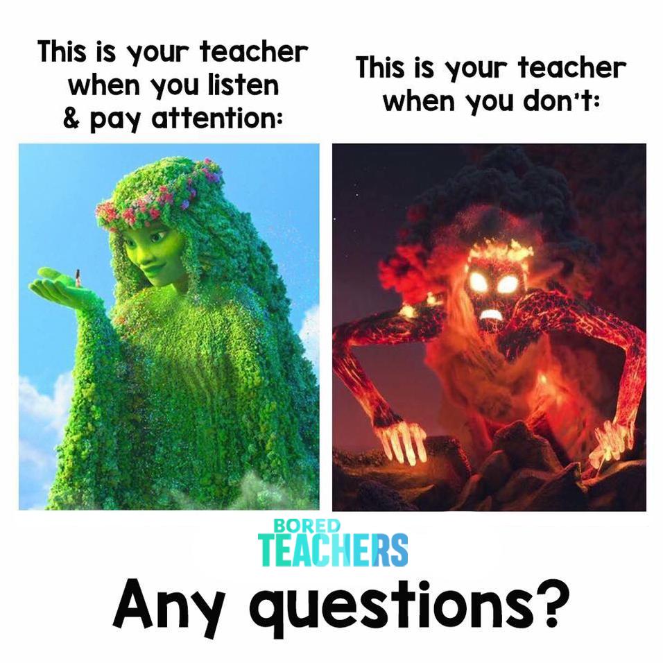 Your Teacher When You Listen | Teacher Memes - Bored Teachers