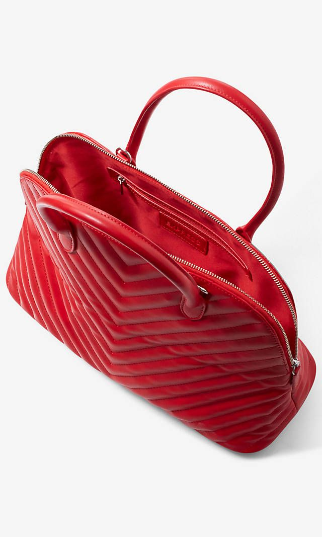 V-stitch Textured Bowler Bag from EXPRESS