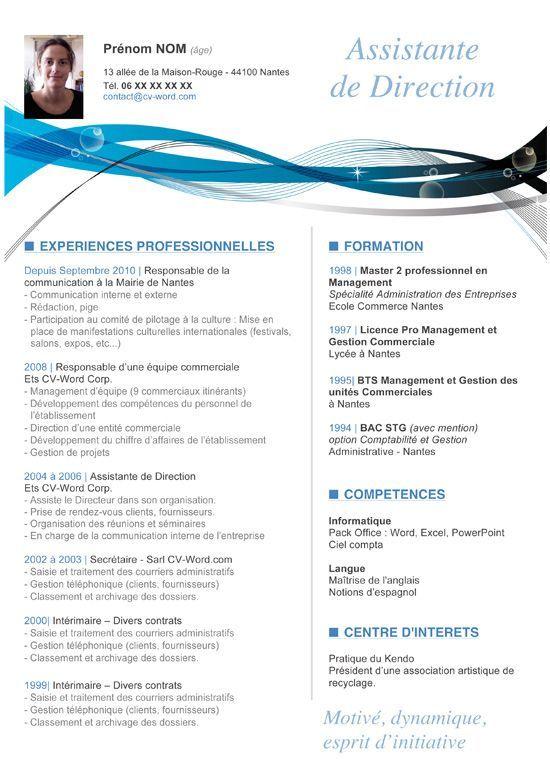Curriculum Vitae Moderne