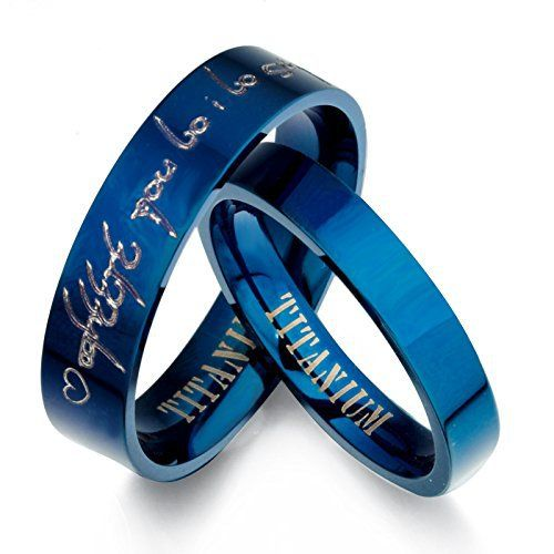 Personalized Lord of The Rings Elvish Tengwar His Hers Blue