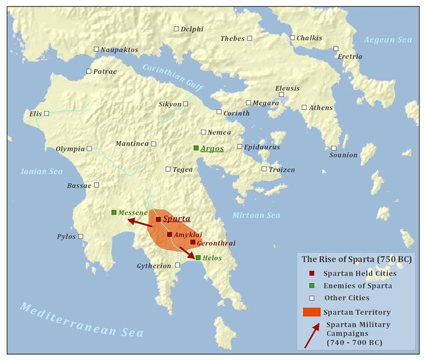 The Rise of Sparta | Sparta map, Sparta, Historical maps