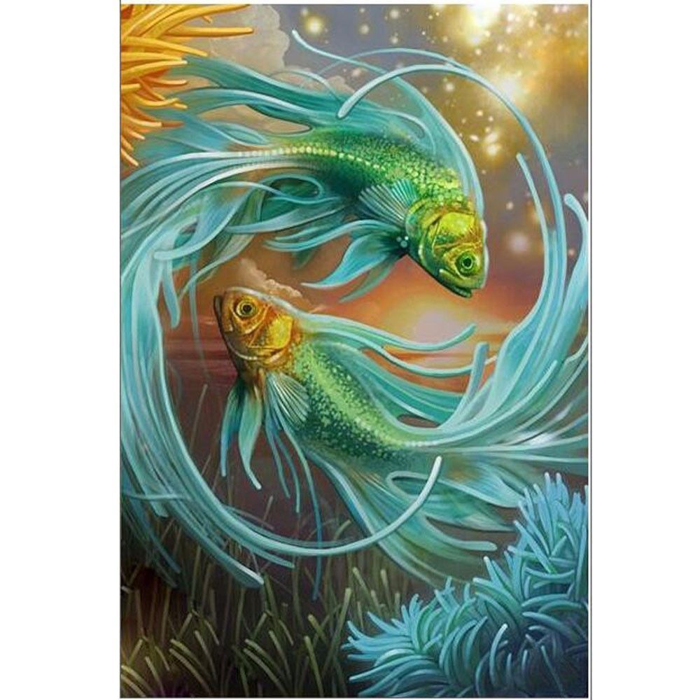 Fish pattern diy d diamond painting cross stitch kits painting by