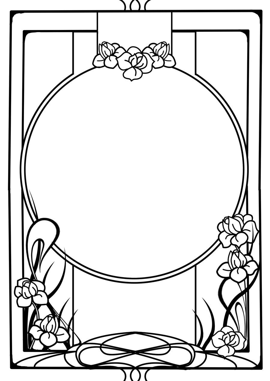 Nouveau frame by tiger tyger on deviantart art nouveau for Art nouveau shapes