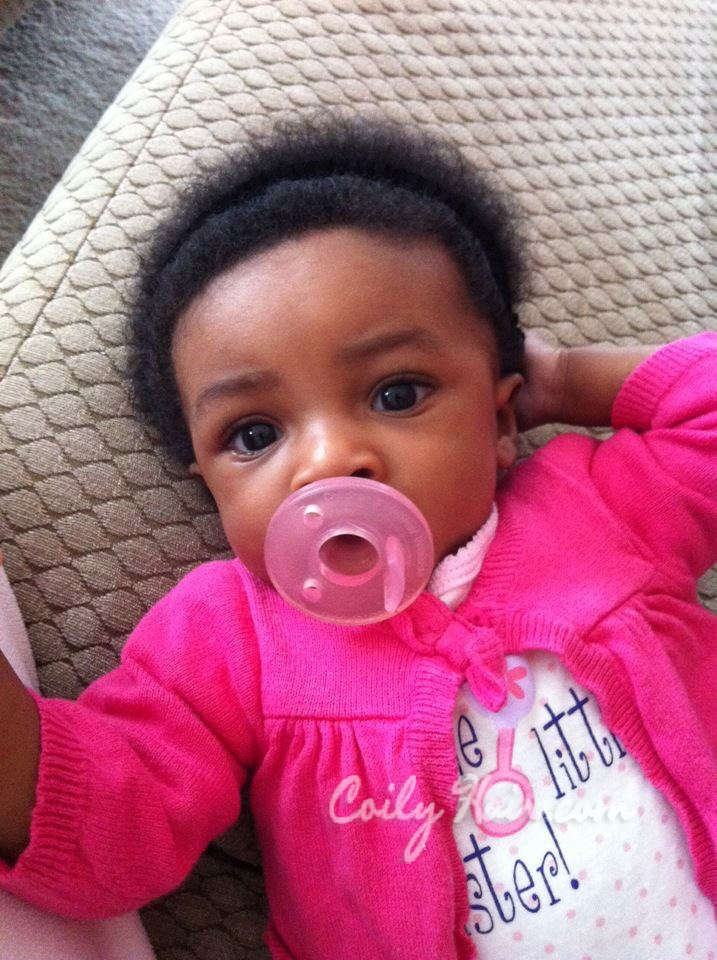 My 2 month old niece with a fully grown in afro! Read about her hair