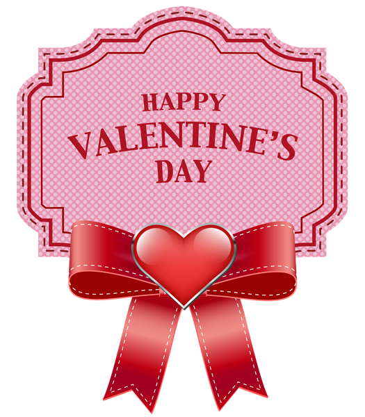 Happy ValentineS Day Label Transparent Png Clip Art Image