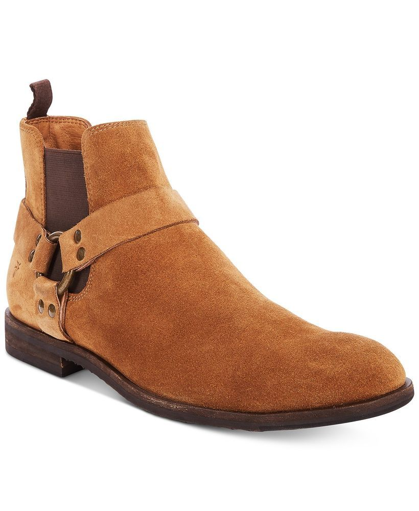 Details about Frye Jackson Harness Suede Men's Brown boots