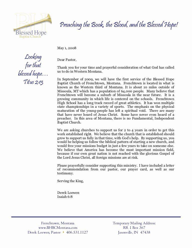 Letter Of From Pastor Best Of Info Letter