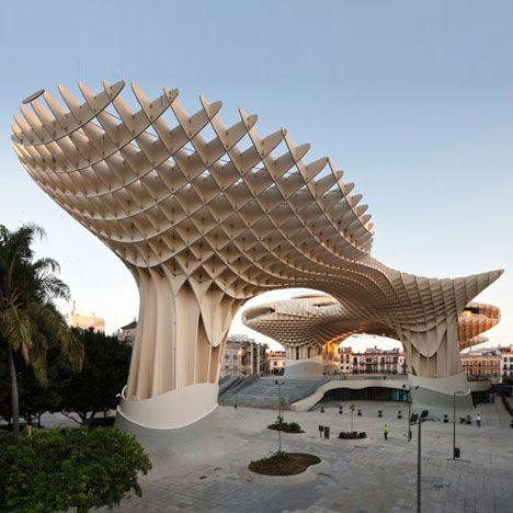 The Metropol Parasol in Seville Spain part of the redevelopment project of the Plaza de la Encarnacíon designed by J. MAYER H. Architects ... & Saw Jurgen Mayer H. discuss this in lecture and am not sure that ...