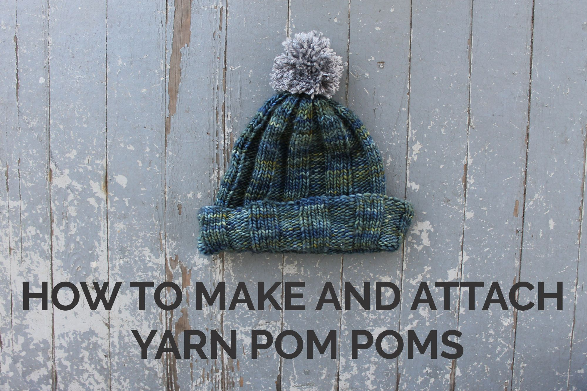8343d750bdc How to Make and Attach Yarn Pom Poms. Top off any handmade project with a  cute yarn pompom. Find out how you can