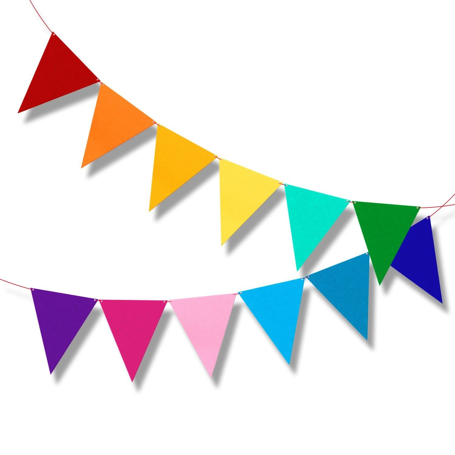 Multicolor Bunting Pennant Flags Banner Carnival Birthday Party Decorations 6 5ft C6184rqa42n In 2020 Birthday Flags Birthday Party Decorations Carnival Birthday Parties