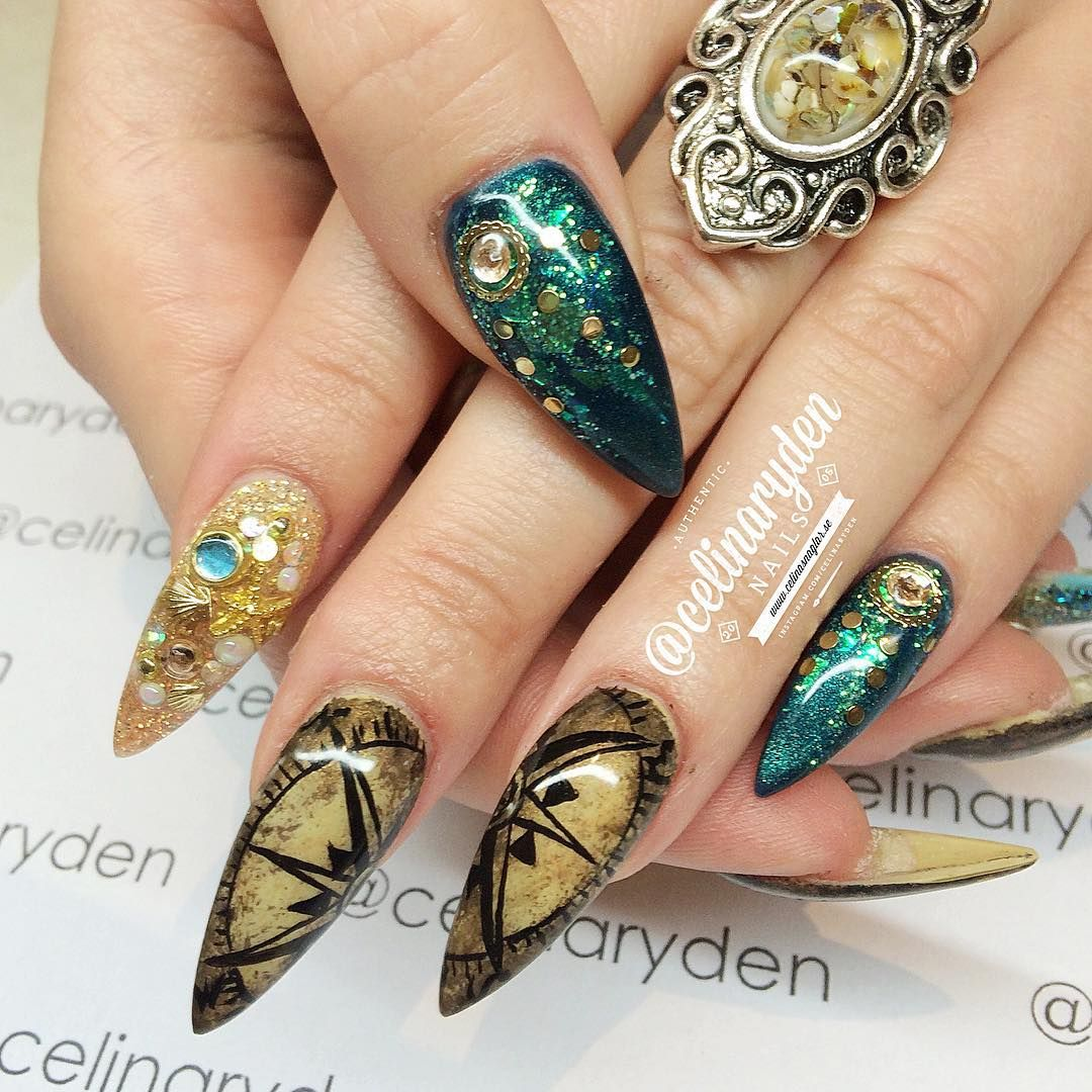 pirates of the caribbean nail art by celinaryden on