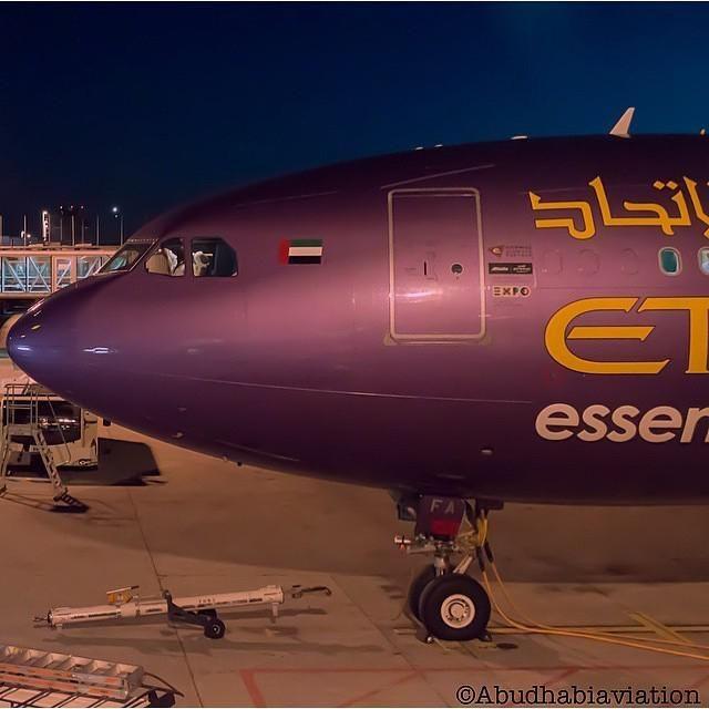 Night Flight - Etihad A330 - by @megaplane