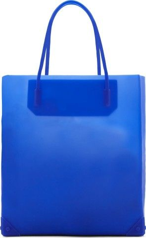 Alexander Wang - Blue Silicon Prisma Tote Bag, Is this your color? http://keep.com/alexander-wang-blue-silicon-prisma-tote-bag-by-dimak89/k/2gBFb7gBDN/