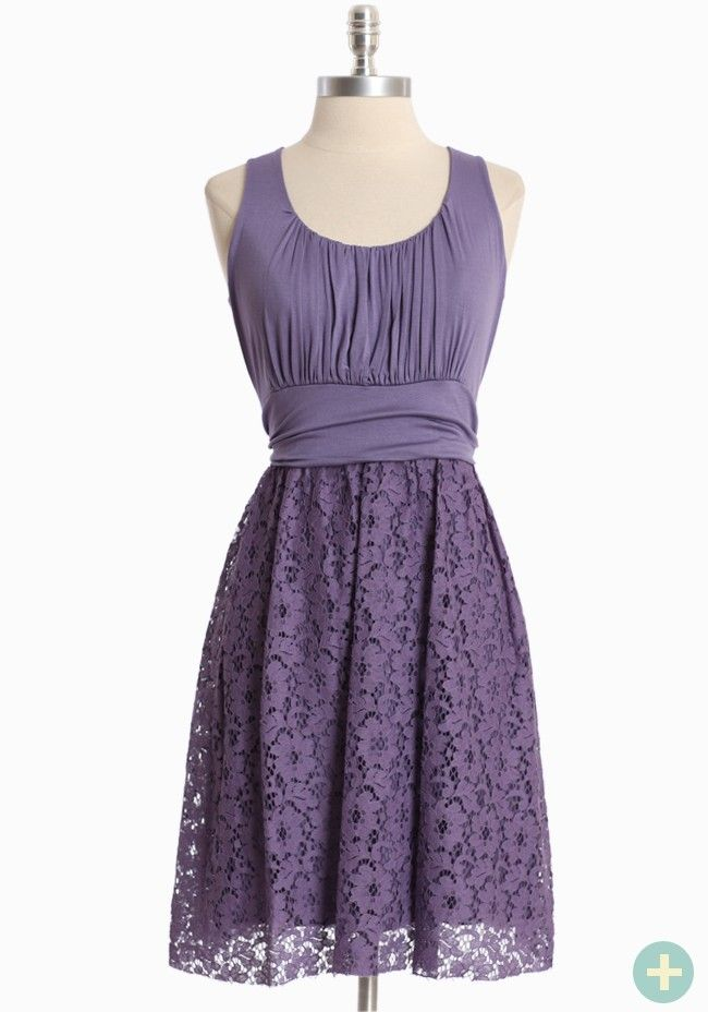 Simply Charming Curvy Plus Dress In Purple