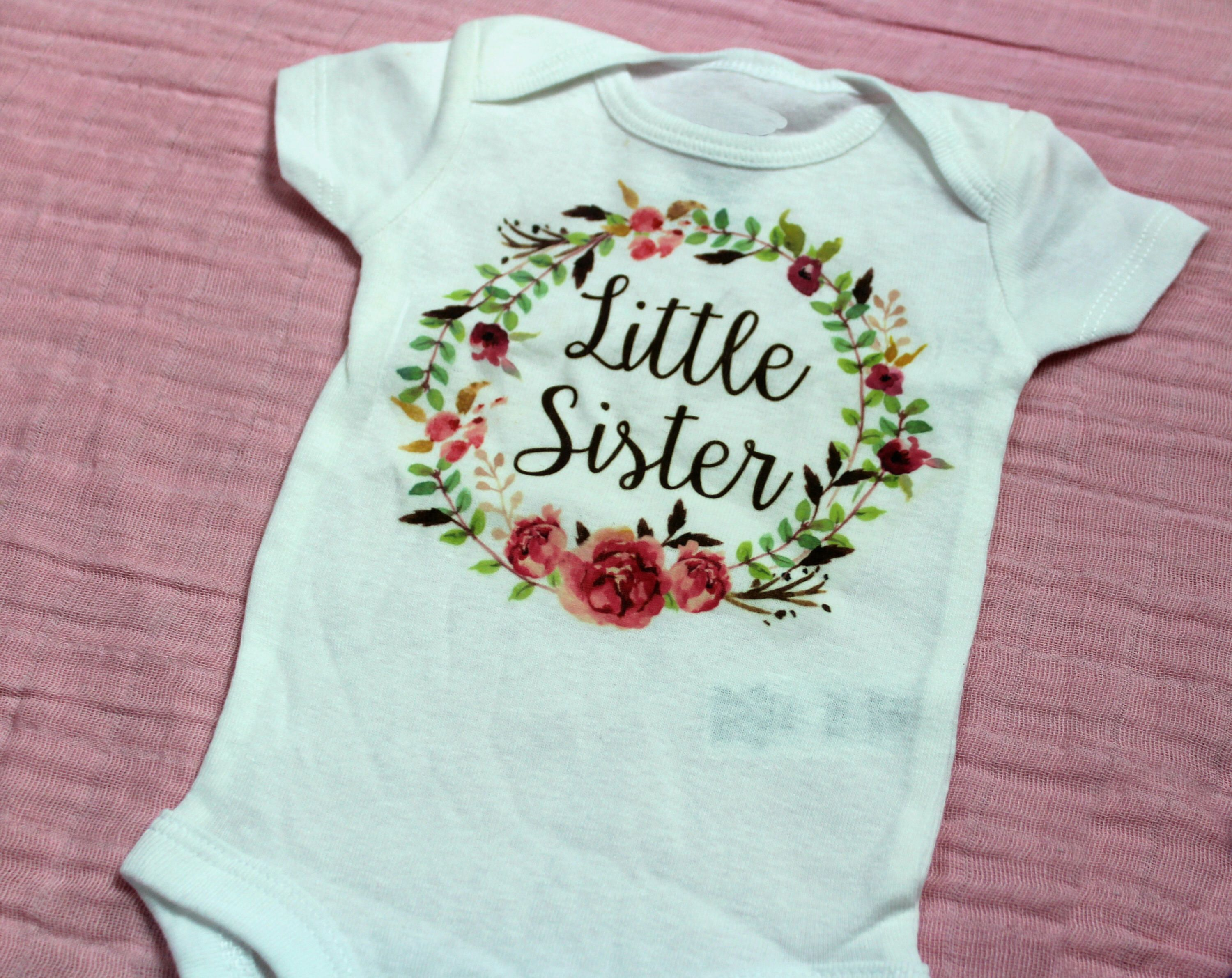 Little Sister esie Cute Baby Clothes Baby Girl Clothes Baby
