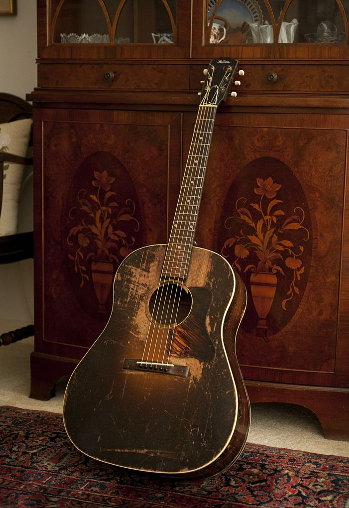 1934 gibson jumbo vintage guitar other fine instruments etc guitar acoustic guitar. Black Bedroom Furniture Sets. Home Design Ideas