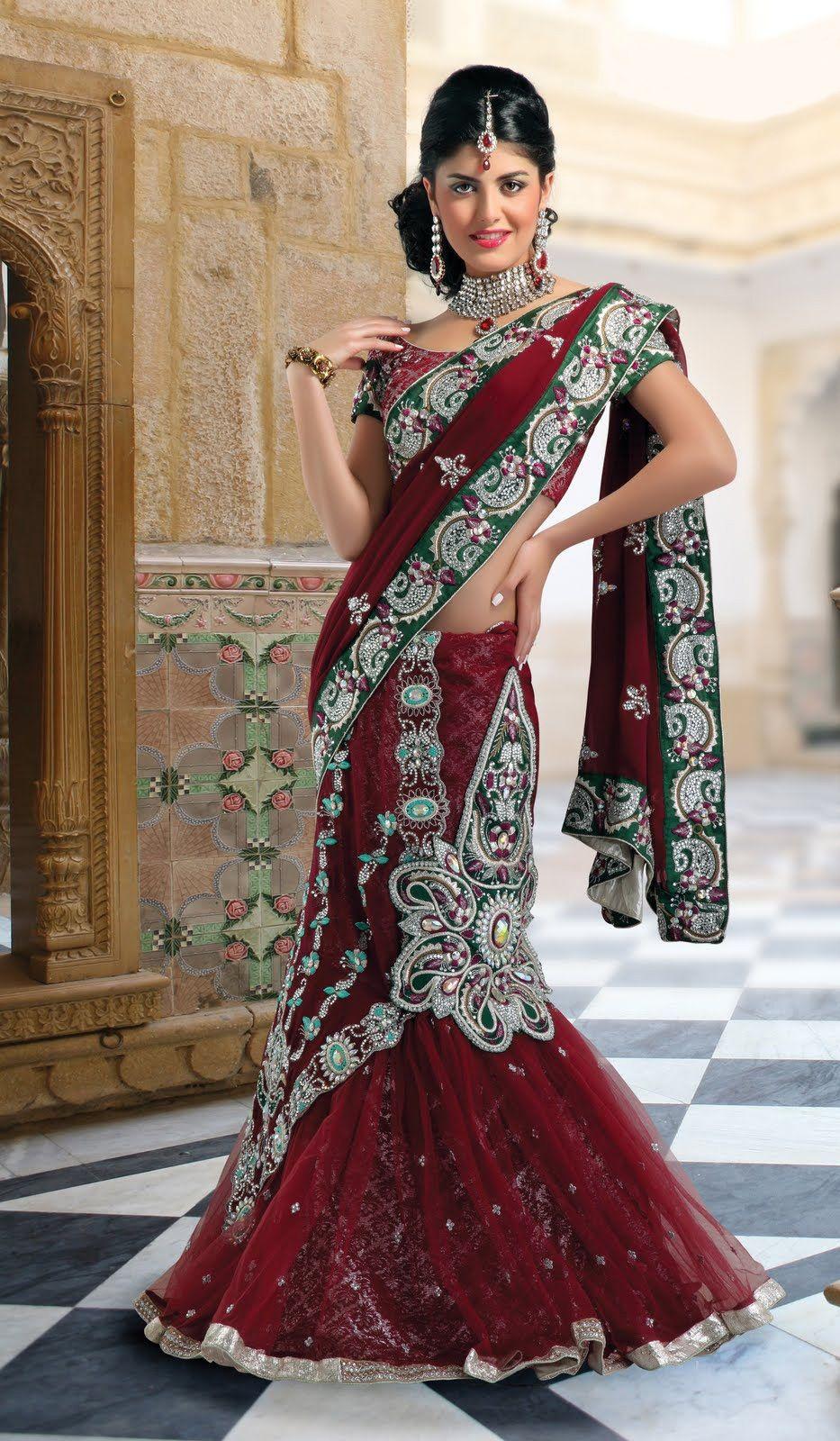 Saree for women wedding elegant maroon lehenga saree  what women wear  pinterest
