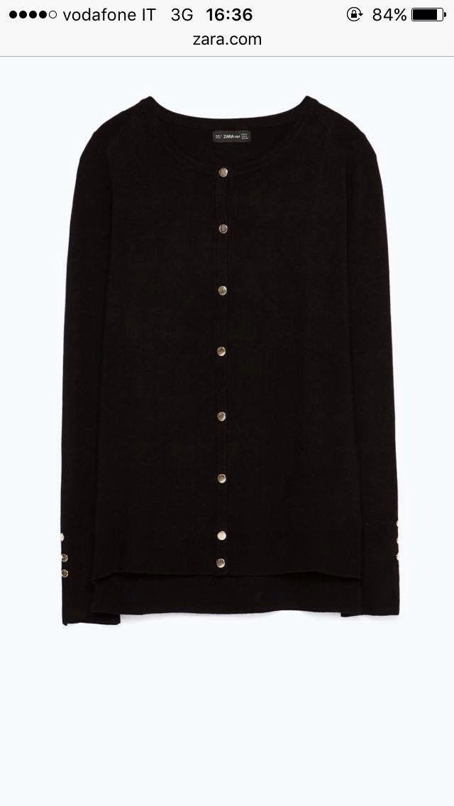 Zara cardigan with gold buttons | My Royal closet | Pinterest ...