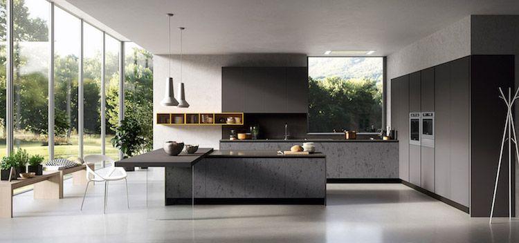 Image De Cuisine Moderne De Design Italien Avec Armoires Noires
