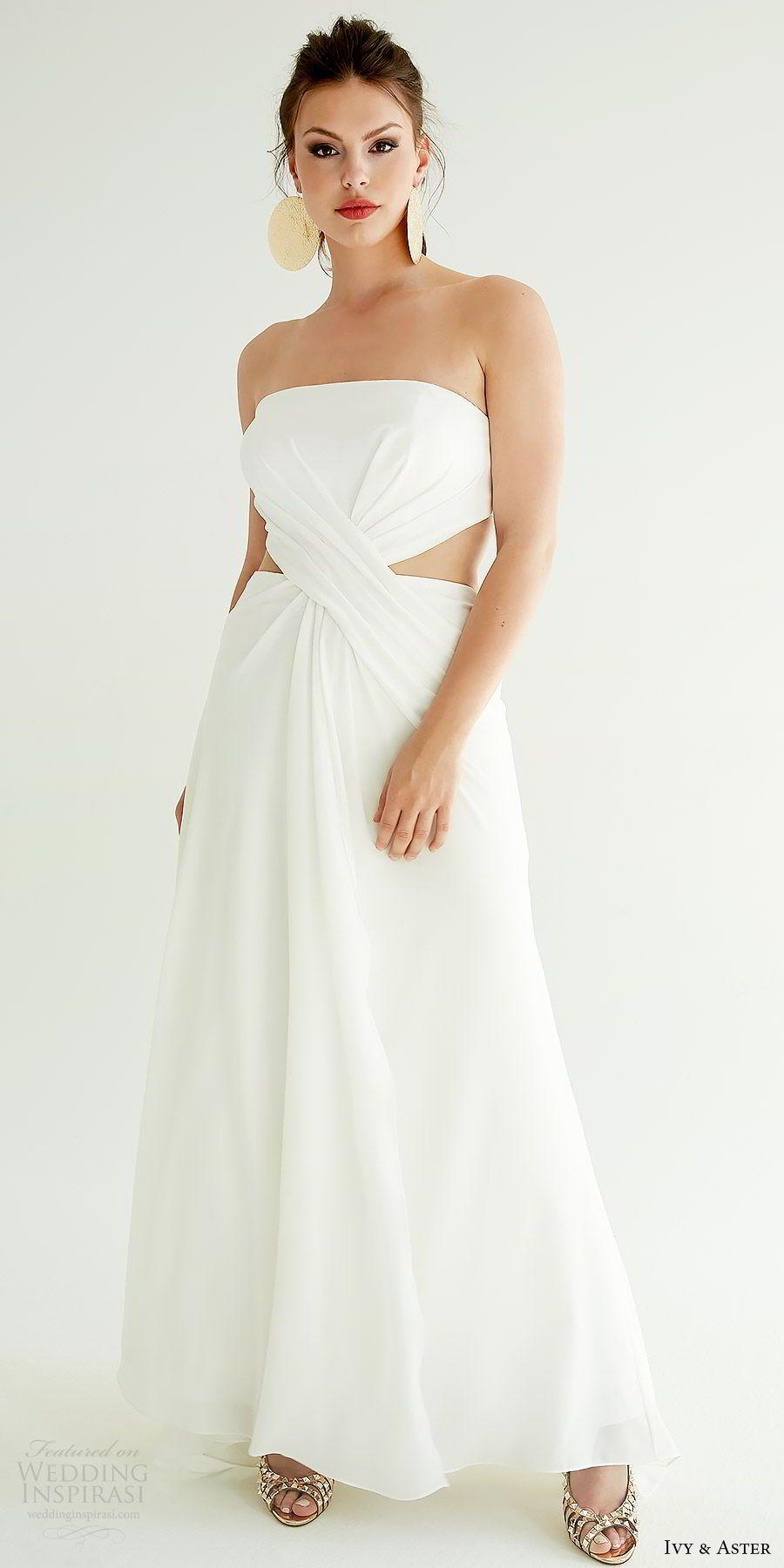 Ivy Aster Spring 2019 Wedding Dresses Ixa Revolution Bridal Collection Wedding Inspirasi Short Wedding Gowns Chic Wedding Dresses Embellished Wedding Dress [ 1800 x 900 Pixel ]
