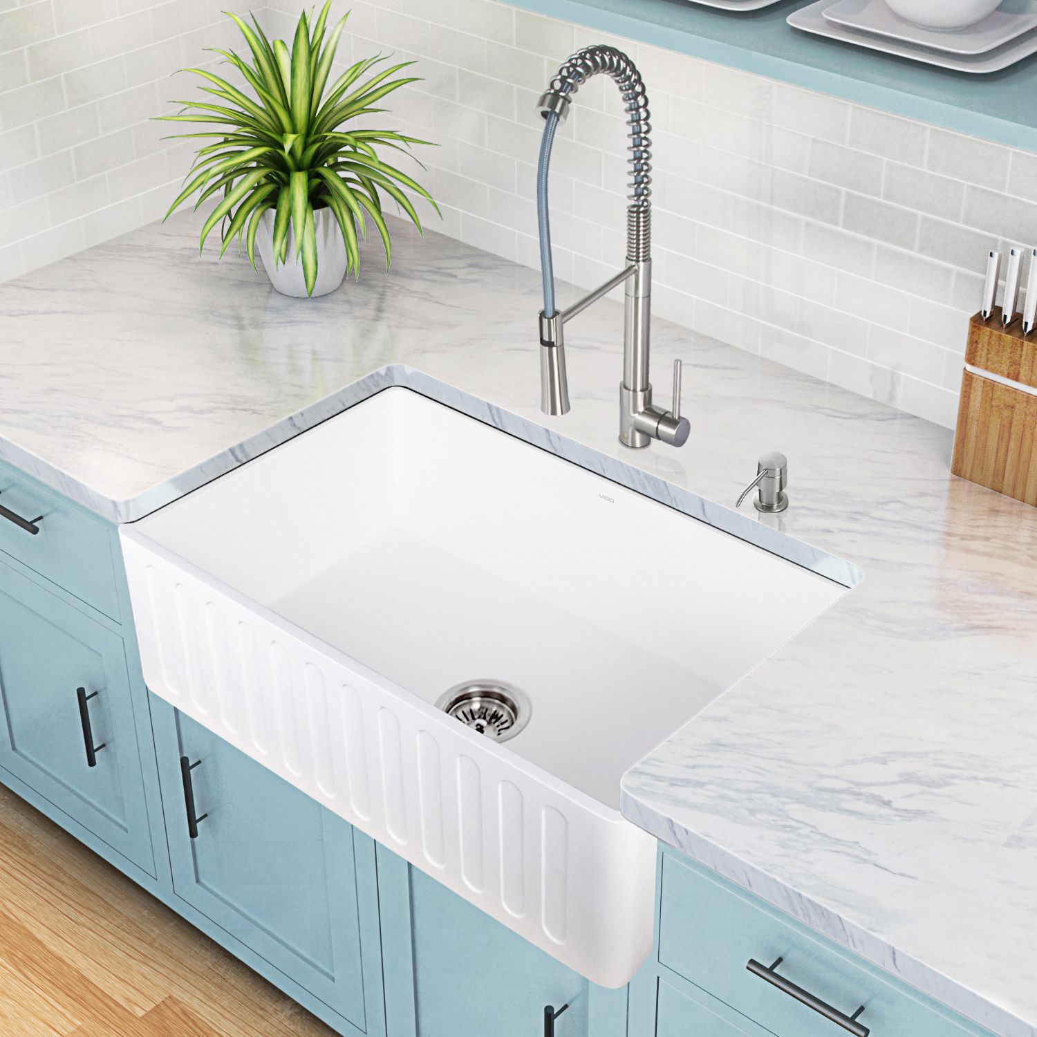Overstock Farmhouse Sink Vigo Laurelton Stainless Steel Pull Down Spray Kitchen