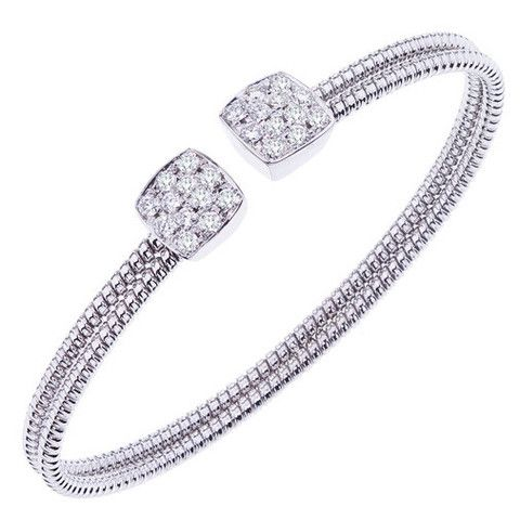 Ben Garelick 0.90 Carat Diamond Cushion Cut Pave Cuff Bangle · B8253/WX · Ben Garelick Jewelers