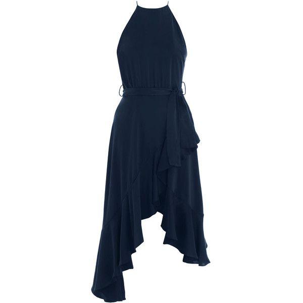ZIMMERMANN Flounce Picnic Dress (3.110 NOK) ❤ liked on Polyvore featuring dresses, high neck dress, flounce dress, frilly dresses, strappy dress and high neck ruffle dress