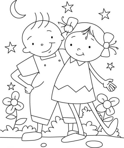 Each friend represents a world in us coloring page ...