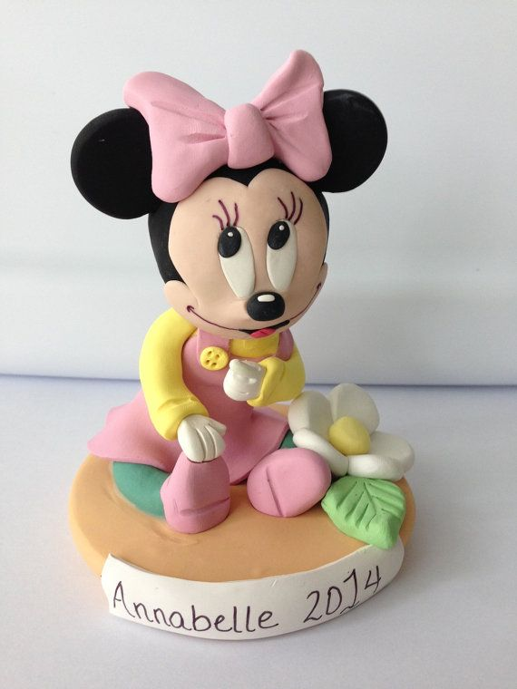 Minnie Mouse Birthday or Baby Shower Cake Topper and by LemonRow