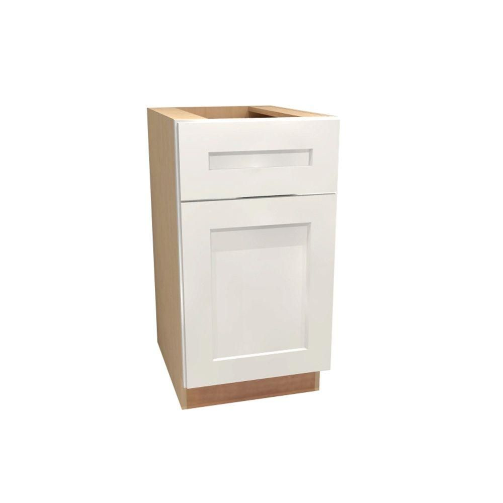 Assembled 15x28.5x21 in. Newport Desk Height Base Cabinet with 1 ...