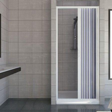 Porte paroi de douche en Plastique PVC mod Vergine 90 cm avec - porte accordeon pour douche