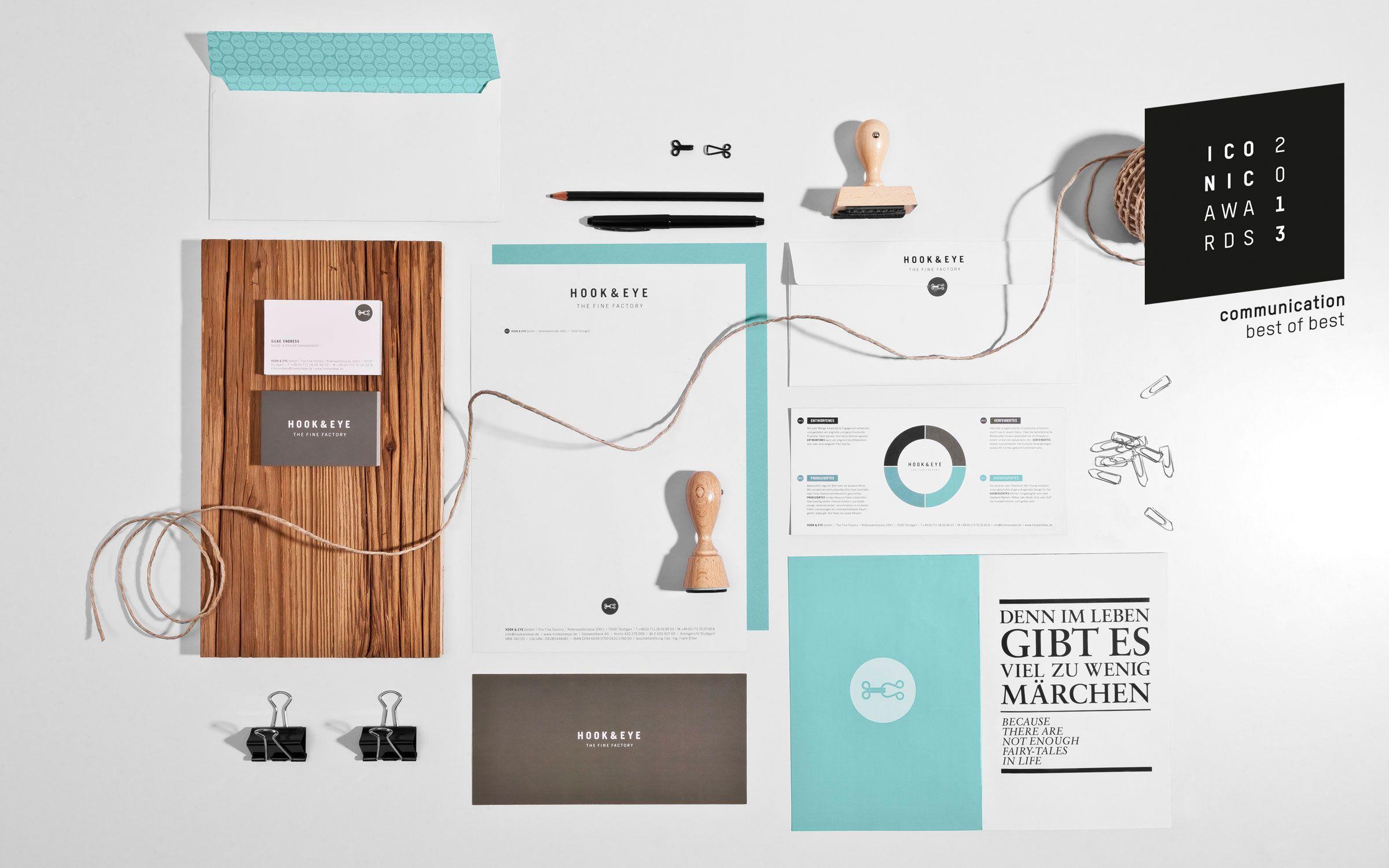 graphic design corporate design hook eye showroom by dia dittel