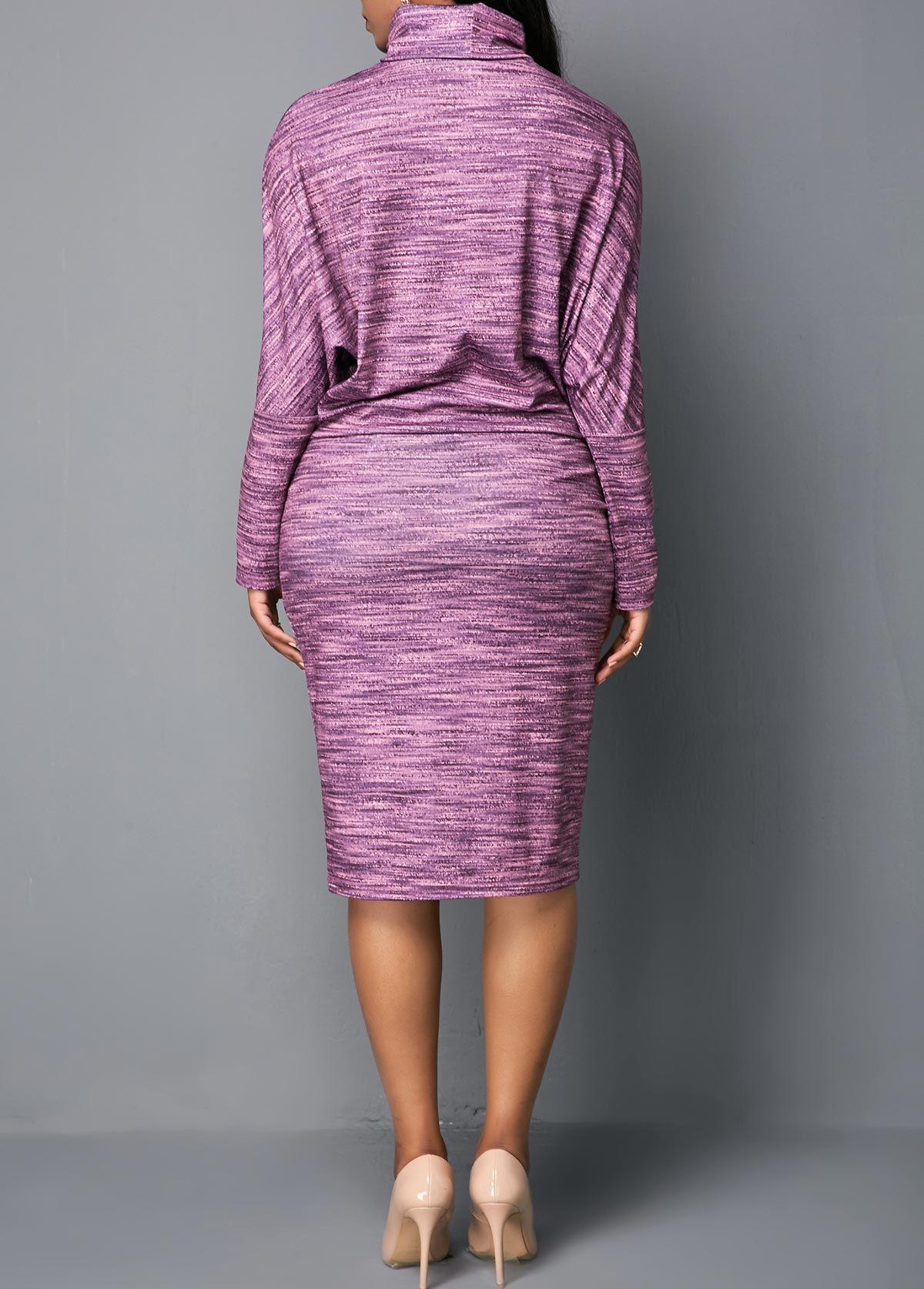 Mock neck long sleeve midi dress in dresses pinterest